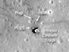 LRO Camera view of Apollo 12 landing site