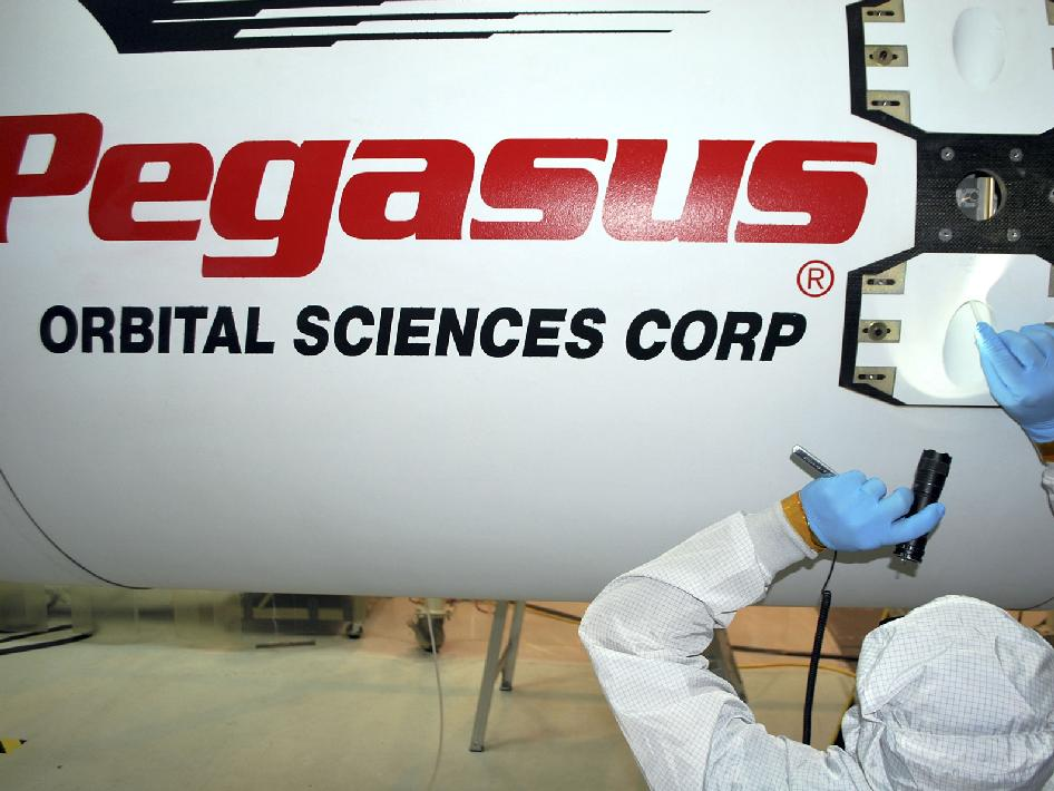 Pegasus fairing is installed.