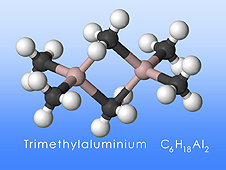 Trimethylaluminum molecule