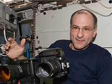 Don Pettit on board the International Space Station.