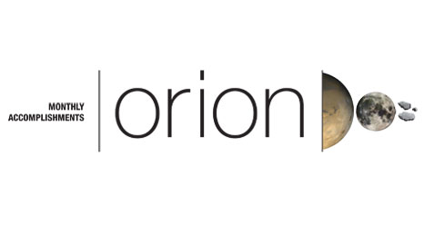 Orion monthly accomplishments