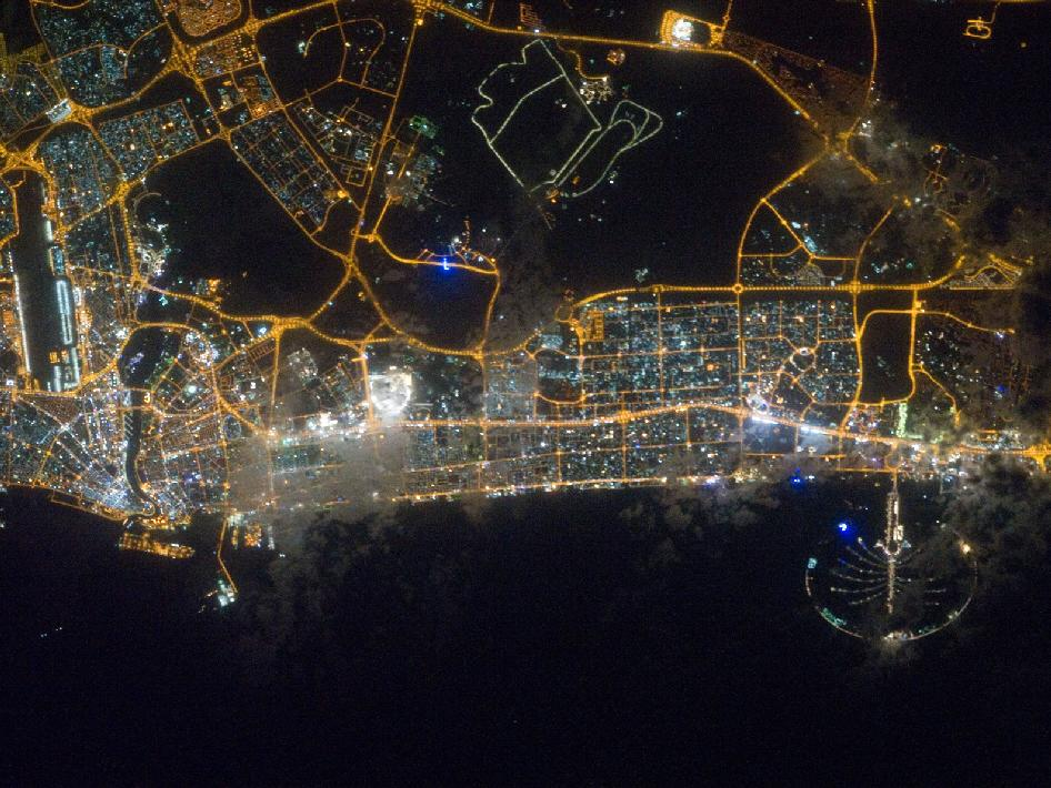 City lights of Dubai, United Arab Emirates