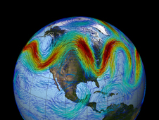 graphic showing Earth's jet stream