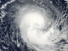 MODIS captured this true-color, visible image of Tropical Cyclone Koji on March 10, 2012 at 08:15 UTC.