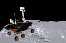 Image: Artist concept of rover on ledge