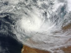 On March 13, 2012 MODIS captured this visible image of Tropical Cyclone Lua over Western Australia.