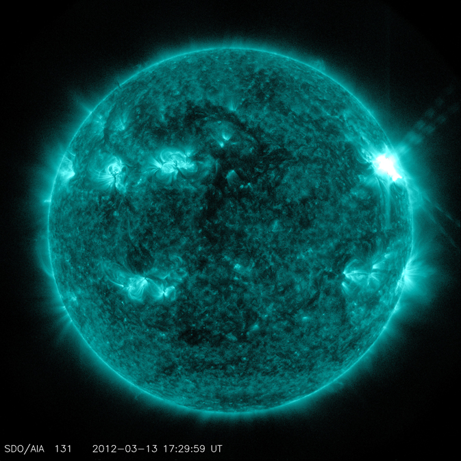 solar flare seen by SDO