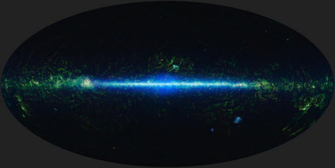 Infrared mosaic of the Milky Way Galaxy