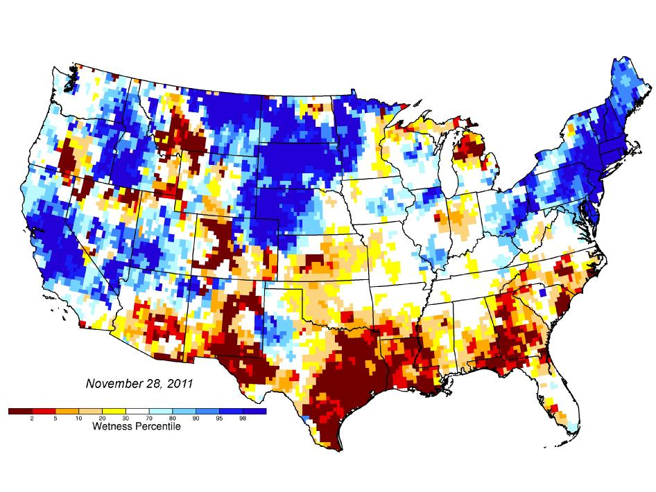 Drought prediction map model