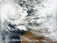 On March 15, 2012 MODIS captured Lua when it was about 400 nautical miles northwest of Port Hedland, Australia.