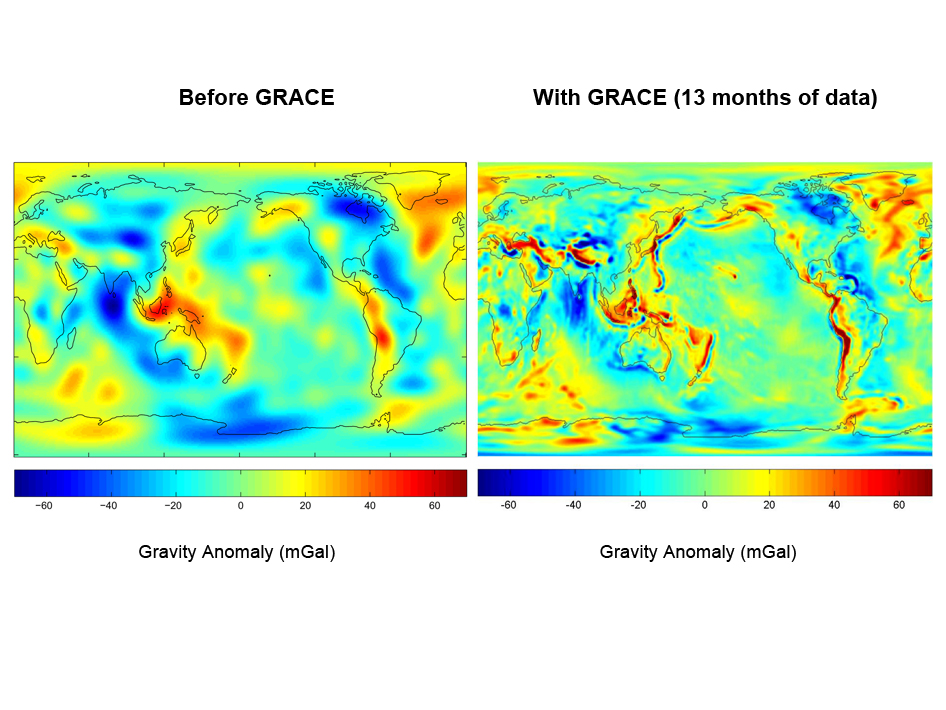 Gravity field maps