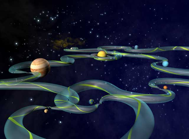 Nasa interplanetary superhighway makes space travel simpler for Outer space travel