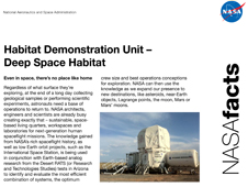 Deep Space Habitat Fact Sheet cover image