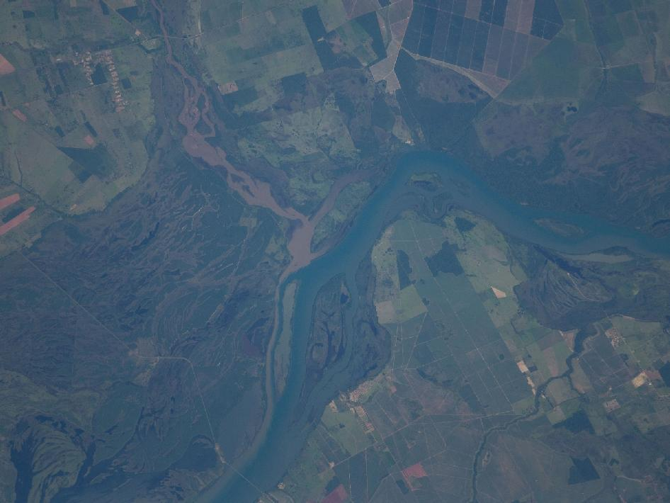 The Parana River floodplain along the Mato Grosso–Sao Paulo border, Brazil