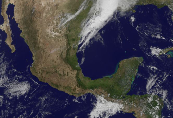 GOES 13 image of Mexico with clear skies