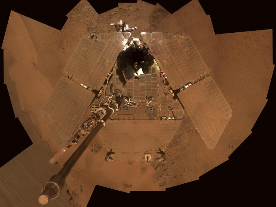 Mars Exploration Rover Opportunity in late December 2011