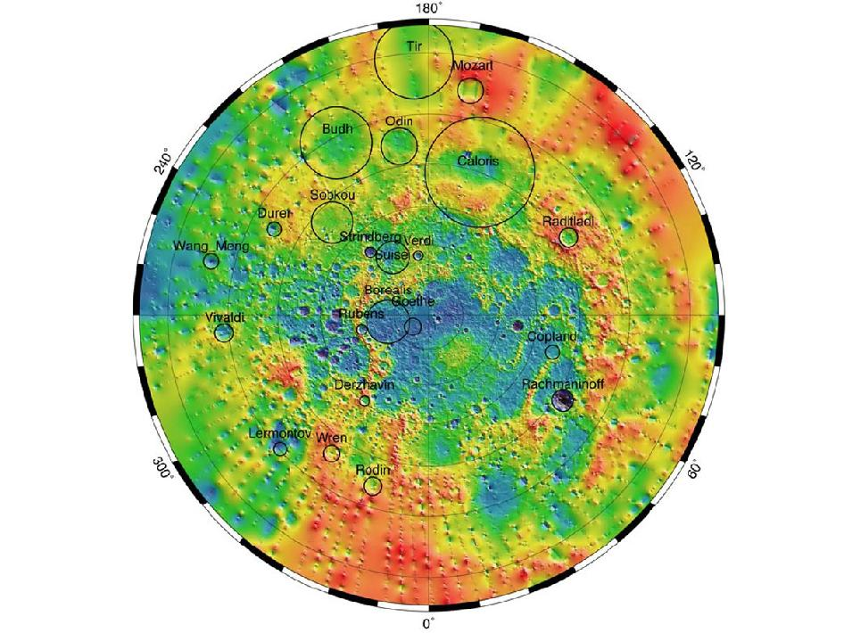 Image from Orbit or Mercury: Mercury's Topography from MLA