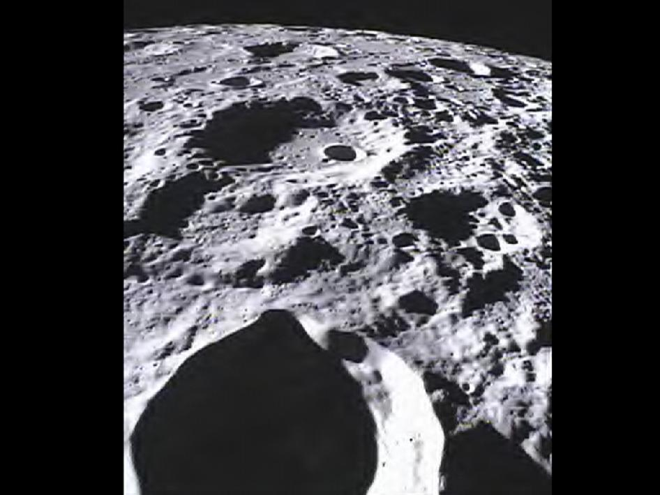 Far side of moon imaged by MoonKAM