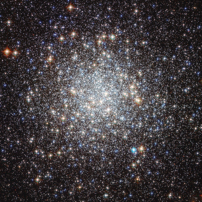 dazzling starfield of Messier 9 bursts outward from a central cluster