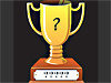 Image of a trophy with question marks on name plate
