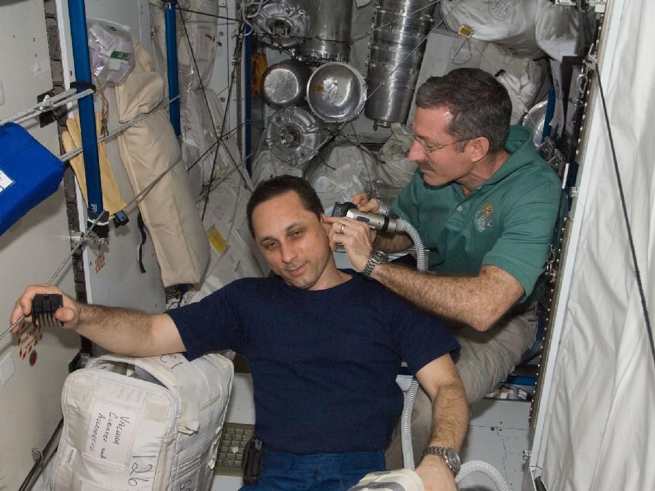 Commander Dan Burbank and cosmonaut Anton Shkaplerov