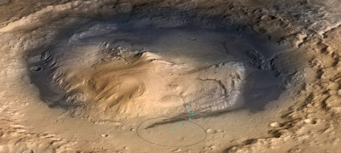 Landing site for NASA's Mars rover Curiosity