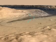 Target landing area for Curiosity
