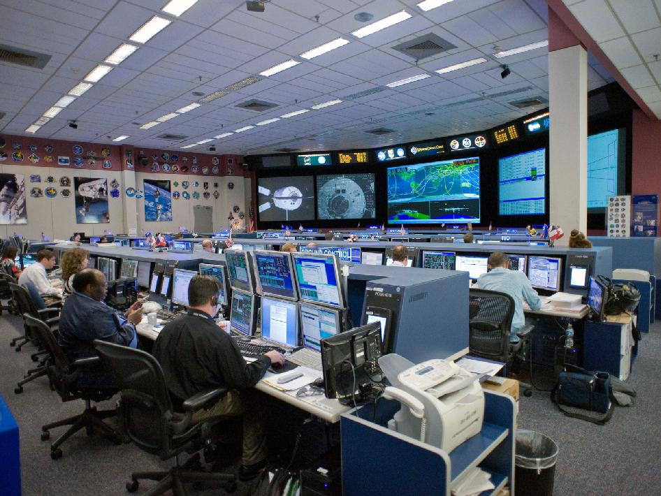 NASA - Mission Control During ATV-3 Rendezvous, Docking