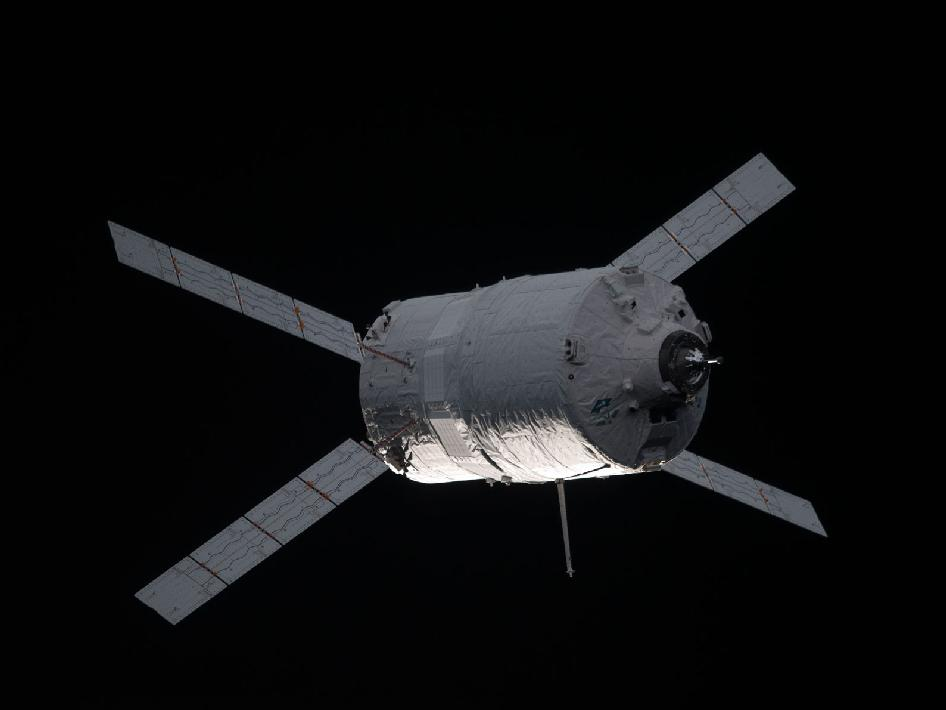 The ATV-3 Approaches the International Space Station