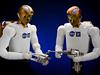Two Robonaut robots
