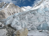 The icefall of Khumbu glacier, in the Nepali Himalayas.
