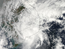 The MODIS instrument on NASA's Aqua satellite captured this visible image of Tropical Storm Pakhar after it made landfall in Vietnam.