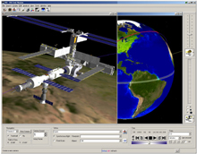 Artist image of behavioral analysis tool used by ISS engineers.