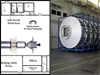 Habitat Module mockup and diagram of operational layout at Building 4649 at Marshall Space Flight Center.