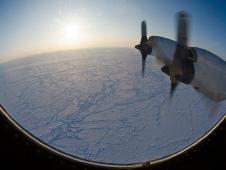 Arctic sea-ice as seen from the window of the NASA P-3.