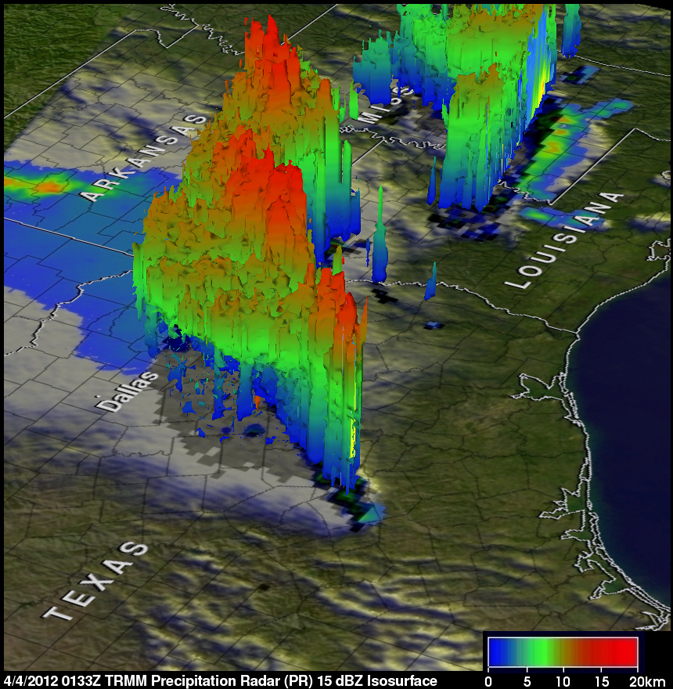TRMM image of Texas storm system