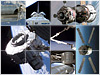 Collage of space station parts