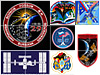 Collage of space station Expedition patches