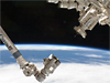 Part of Canadarm2 on the left and Dextre on the right