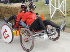 Student racers from the University of Utah in Salt Lake City tied for third place in the college division of the 2011 Great Moonbuggy Race.