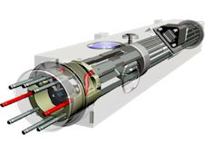 Artist concept of the Deep Space Atomic Clock