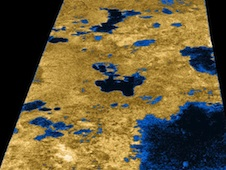 Hydrocarbon lakes on Titan