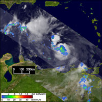 Hurricane Charley taken by TRMM on August 10, 2004.