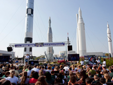 The award ceremony begins inside the Rocket Garden at Kennedy Space Center Visitor Complex