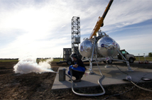 Morpheus lander before hot fire test