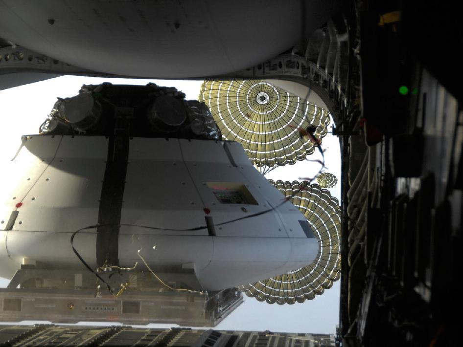 Un modelo de prueba de la nave espacial Orion