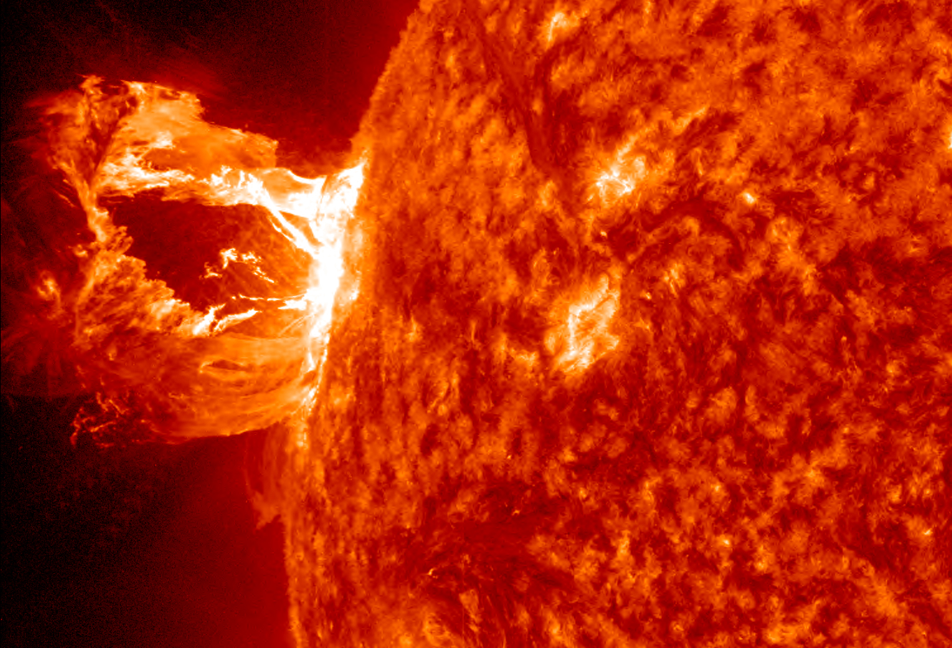 NASA - Giant Prominence Erupts