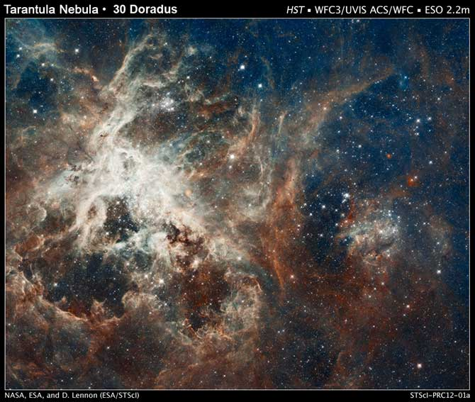 The image comprises one of the largest mosaics ever assembled from Hubble photos and includes observations taken by Hubble's Wide Field Camera 3 and Advanced Camera for Surveys.