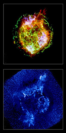 The colorful inferno of Cassiopeia A as seen by Chandra.
