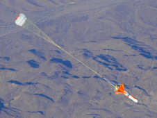 jsc2012e041633 -- Test of the Orion crew vehicle's entry, descent and landing parachutes.